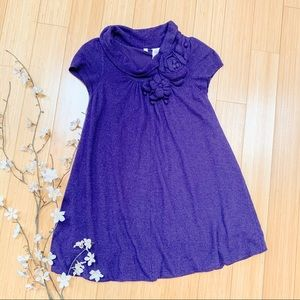 Anthropologie MOTH purple short sleeve sweater, S.